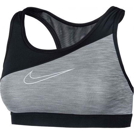 Дамско спортно бюстие - Nike SWOOSH BAND MTLC LOGO BRA - 2