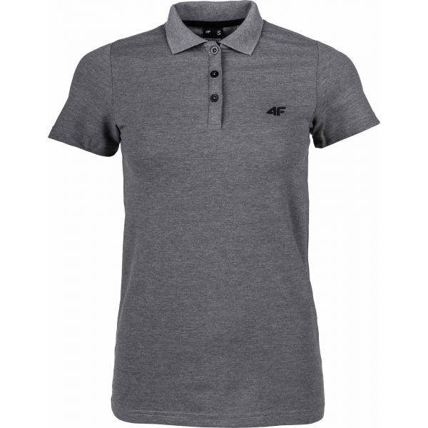 4F WOMEN´S T-SHIRT šedá M - Dámské polo tričko