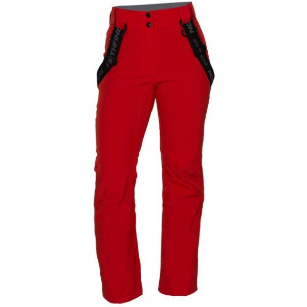 Northfinder TODFYSEA červená S - Dámske lyžiarske nohavice