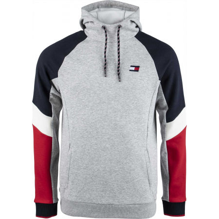 Men's sweatshirt - Tommy Hilfiger BLOCKED FLEECE HOODY - 1
