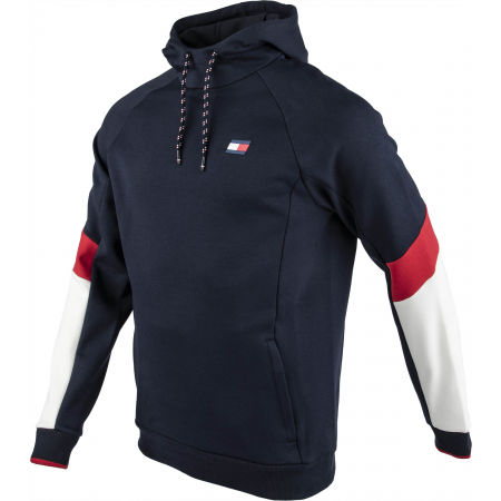 Men's sweatshirt - Tommy Hilfiger BLOCKED FLEECE HOODY - 2