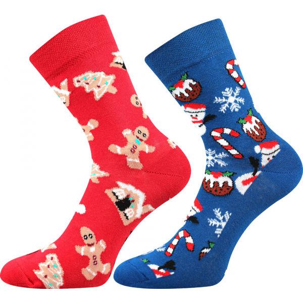 Lonka VIANOČNÝ SNEHULIAK 2P - Ponožky