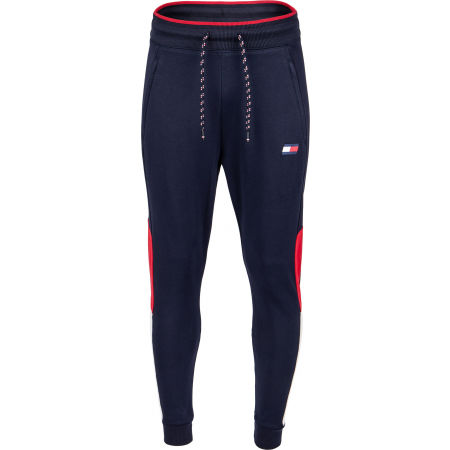 Men's tracksuit bottoms - Tommy Hilfiger CUFFED BLOCKED  FLEECE PANT - 2