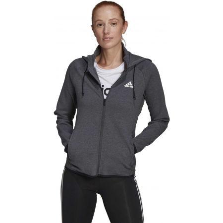 Дамски спортен суитшърт - adidas MT FZ HOODY - 4