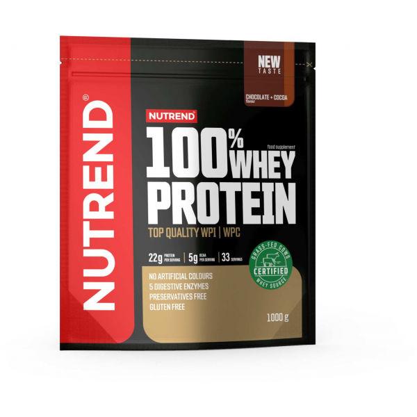 Nutrend 100% WHEY PROTEIN 1000 g ČOKOLÁDA + KAKAO - Proteín