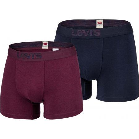 Levi's MEN PREMIUM OPTICAL ILLUSION BOXER 2P MIX - Pánské boxerky