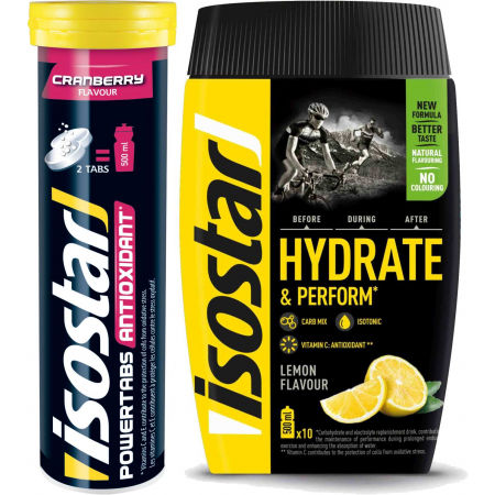 Isostar HYDRATE PERFORM 400g CITRON + POWERTABS BRUSINKA 120g - Iontový nápoj