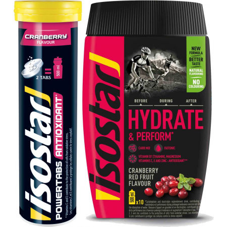 Isostar HYDRATE PERFORM 400g BRUSINKA + POWERTABS BRUSINKA 120g - Iontový nápoj