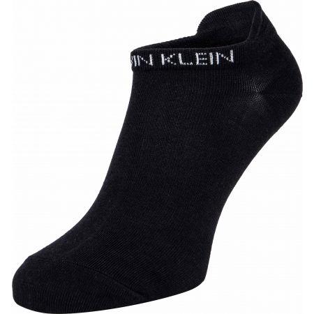 Damensocken - Calvin Klein WOMEN LINER 2P LEOPARD BACK TAB - 2