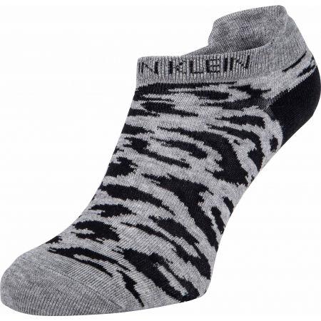 Dámské ponožky - Calvin Klein WOMEN LINER 2P LEOPARD BACK TAB - 4