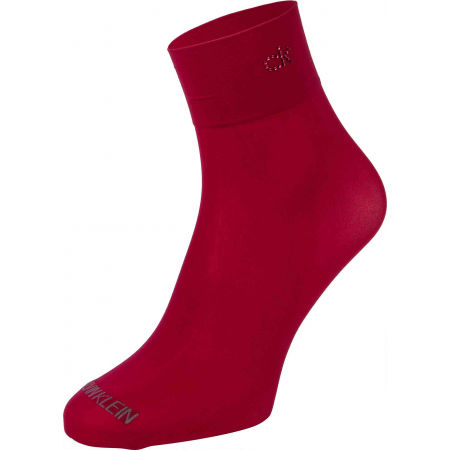 Дамски чорапи - Calvin Klein WOMEN SHORT CREW 2P CRYSTAL LOGO TROUSER MELISS - 2