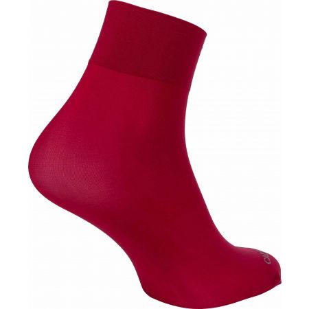 Дамски чорапи - Calvin Klein WOMEN SHORT CREW 2P CRYSTAL LOGO TROUSER MELISS - 3