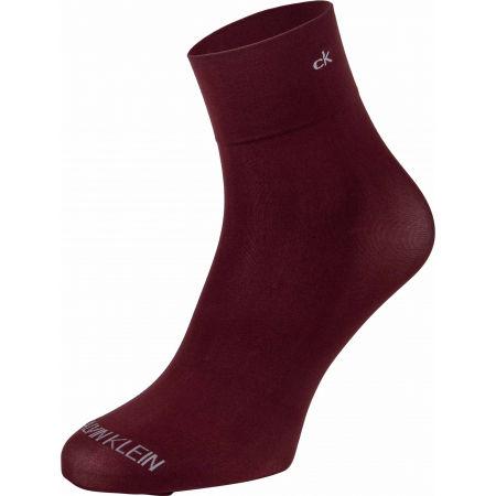 Дамски чорапи - Calvin Klein WOMEN SHORT CREW 2P CRYSTAL LOGO TROUSER MELISS - 4
