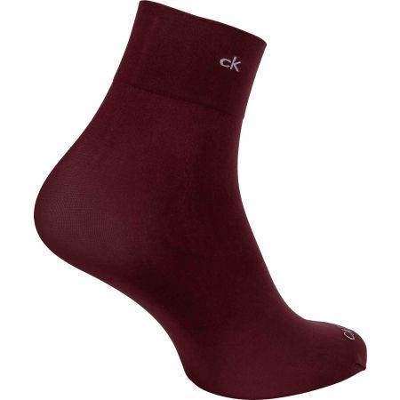 Дамски чорапи - Calvin Klein WOMEN SHORT CREW 2P CRYSTAL LOGO TROUSER MELISS - 5