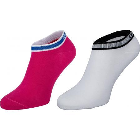 Calvin Klein WOMEN LINER 2P LOGO CUFF STRIPE SPENCER - Női zokni