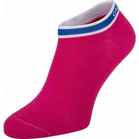 Дамски чорапи - Calvin Klein WOMEN LINER 2P LOGO CUFF STRIPE SPENCER - 2