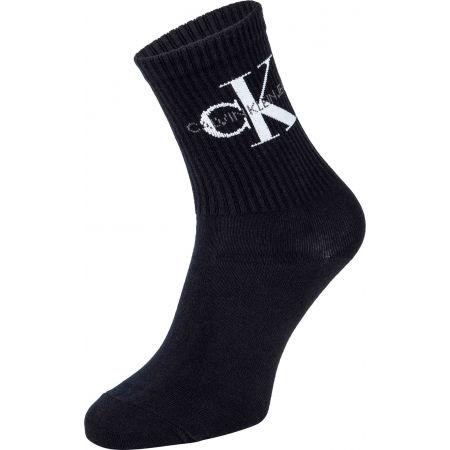 Dámské ponožky - Calvin Klein WOMEN SHORT SOCK 1P JEANS LOGO BOWERY - 1