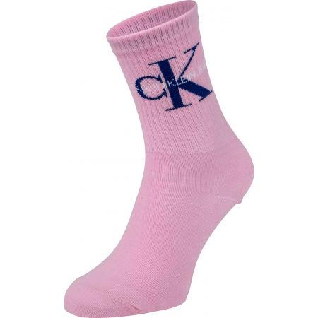 Calvin Klein WOMEN SHORT SOCK 1P JEANS LOGO BOWERY - Dámske ponožky