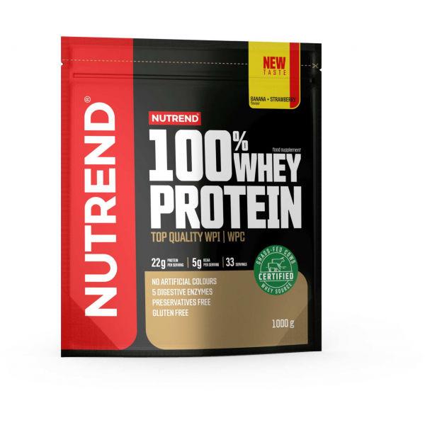 Nutrend 100% WHEY PROTEIN 1000 g BANÁN-JAHODA   - Proteín