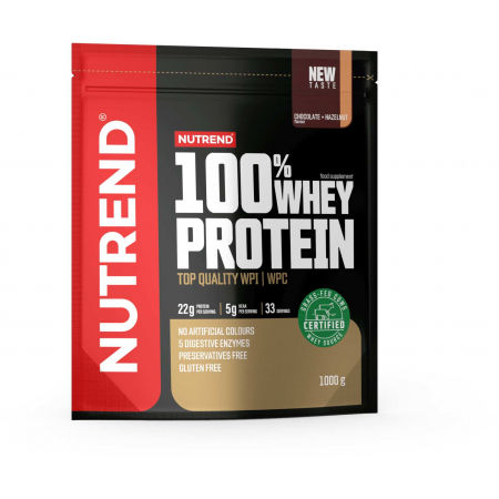 Nutrend 100% WHEY PROTEIN 1000 g ČOKOLÁDA-LIESKOVÝ ORECH - Proteín