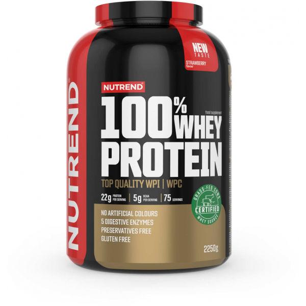 Nutrend 100% WHEY PROTEIN 2250 g JAHODA - Proteín