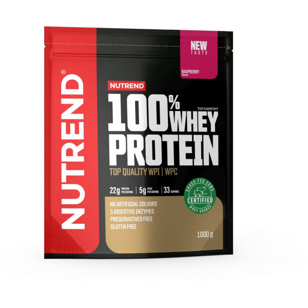 Nutrend 100% WHEY PROTEIN 1000 g MALINA - Proteín