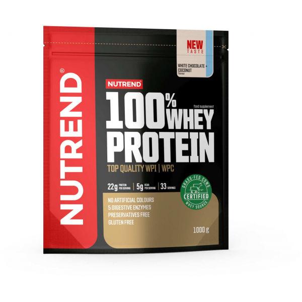 Nutrend 100% WHEY PROTEIN 1000 g BIELA ČOKOLÁDA-KOKOS - Proteín