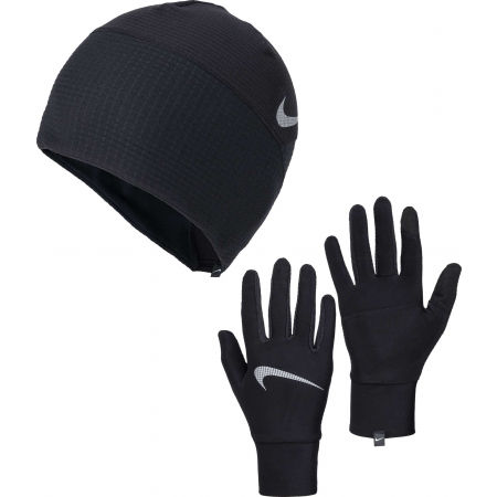 Nike WOMEN'S ESSENTIAL RUNNING HAT AND GLOVE SET - Czapka i rękawiczki damskie do biegania