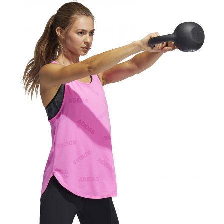 Women's sports tank top - adidas ADI JAQRD TANK - 4
