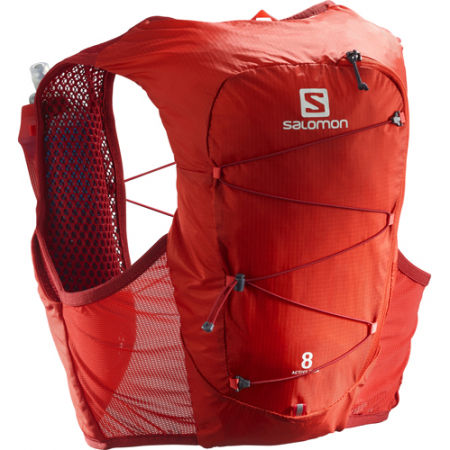 Salomon ACTIVE SKIN 8 SET RED - Bežecká vesta