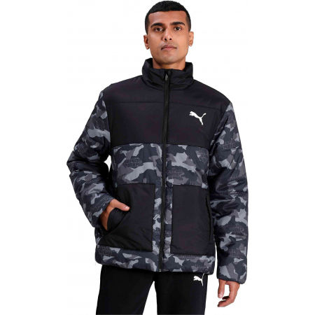 Puma ESS+ PADDED GRAPHIC JACKET - Зимно яке