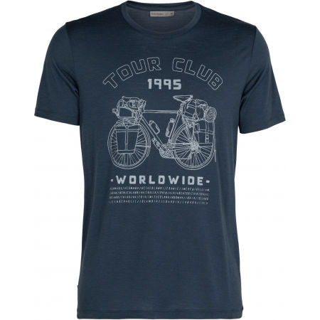 Icebreaker TECH LITE SS CREWE TOUR CLUB 1995 SERENE M - Мъжка техническа тениска