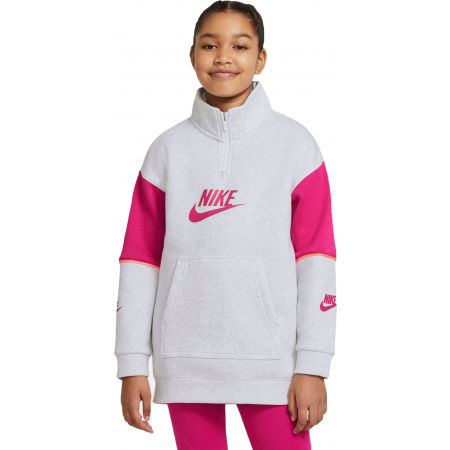 Nike NSW FLC CB HZ PO G - Girls' sweatshirt
