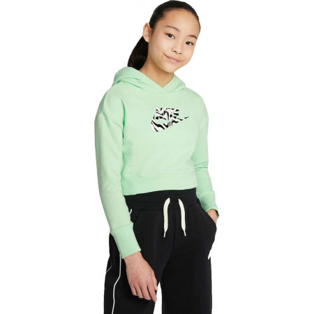 Nike NSW CROP HOODIE FILL - Girls' sweatshirt