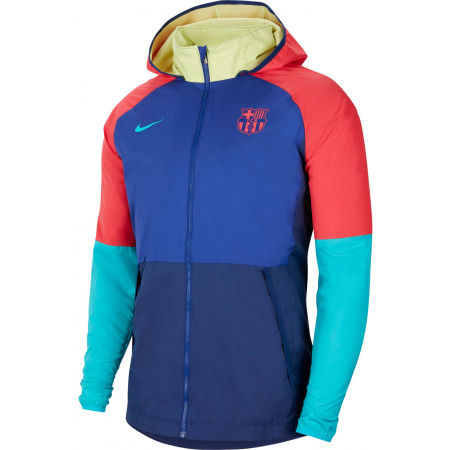 Nike FC BARCELONA HOODIE M - Pánská fotbalová bunda