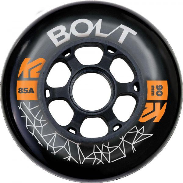 K2 BOLT 90/85A WHEEL 4 PACK BLK - Kolieska k in-line korčuliam