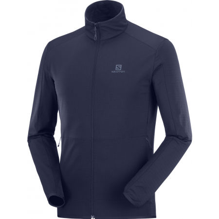 Salomon OUTRACK FULL ZIP MID M - Мъжки  суитшърт