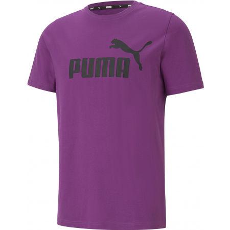 Puma ESS LOGO TEE YEL - Pánske tričko