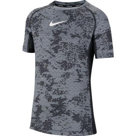 Nike NP SS FTTD AOP TOP B - Chlapecké tréninkové tričko