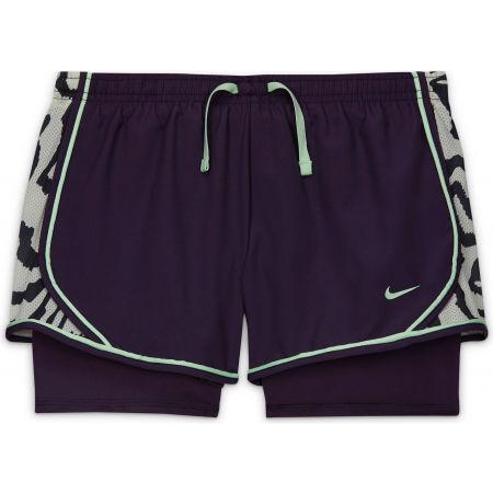 Nike DRY TEMPO AOP G - Dívčí běžecké kraťasy