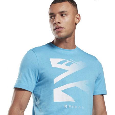 Men's T-shirt - Reebok VECTOR FADE SHORT SLEEVE TEE - 4