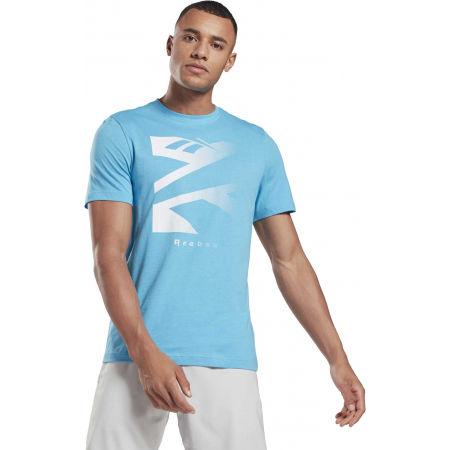 Men's T-shirt - Reebok VECTOR FADE SHORT SLEEVE TEE - 2