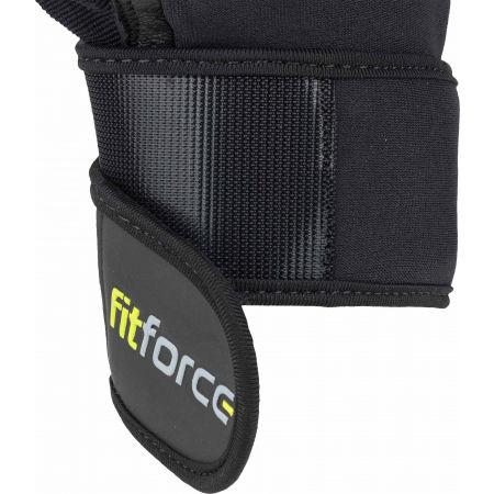 Kožené fitness rukavice - Fitforce LINEAR - 3