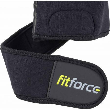 Kožené fitness rukavice - Fitforce LINEAR - 4