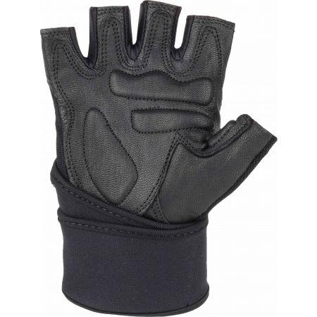 Kožené fitness rukavice - Fitforce LINEAR - 2