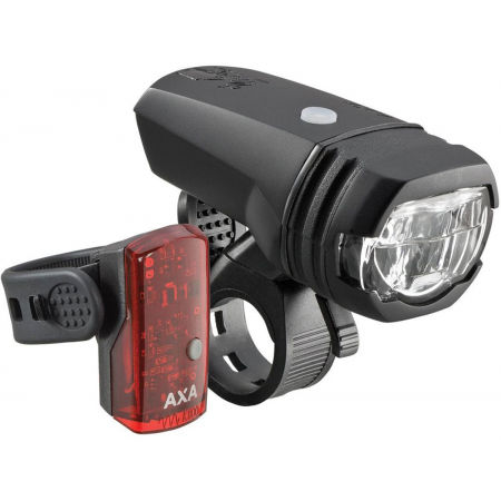 AXA GREENLINE SET 50 LUX - Set of front and rear bike lights
