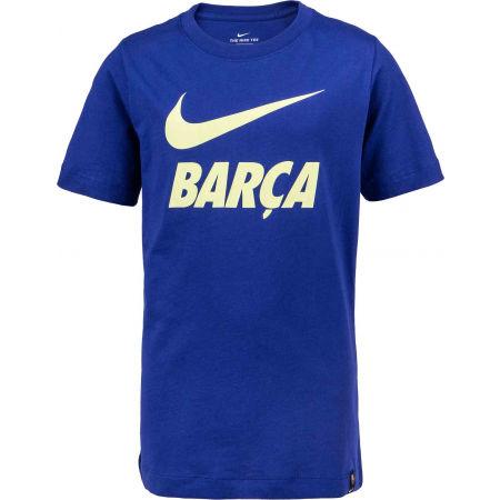 Nike FC BARCELONA TEE JNR - Chlapčenské futbalové tričko