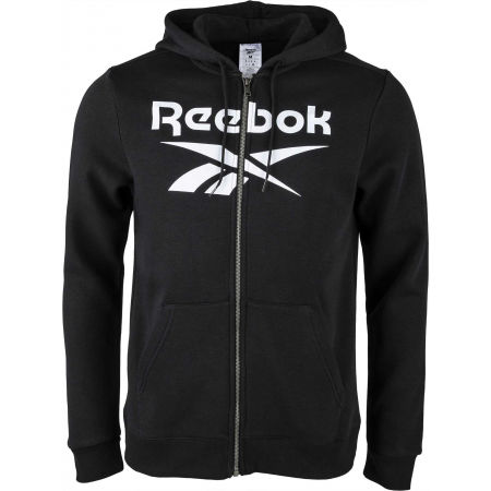 Hanorac pentru bărbați - Reebok FLEECE FULL-ZIP HOODIE M - 1