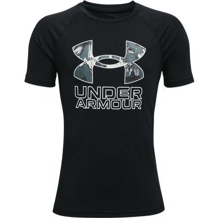 Under Armour TECH HYBRID PRT FILL - Chlapčenské tričko