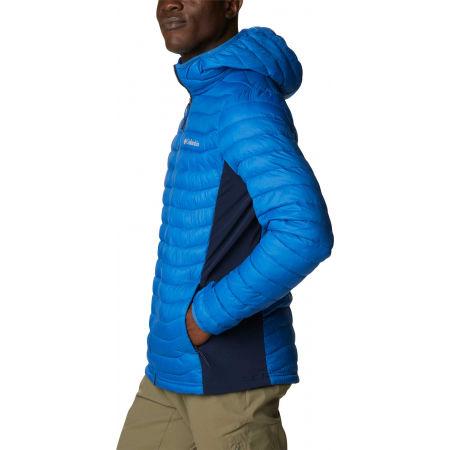 Men's hybrid jacket - Columbia POWDER PASS HOODED JACKET - 3